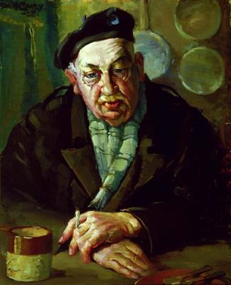 Untitled (Portrait of a man with a beret - Dr Carberry)