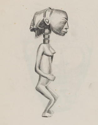 Joan Grehan; Untitled (African carving study); 2014/1/8