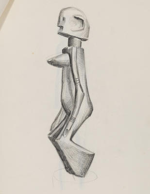 Joan Grehan; Untitled (African carving study); 2014/1/11