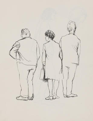 Joan Grehan; Untitled (Male and female figures, study); 2014/1/15