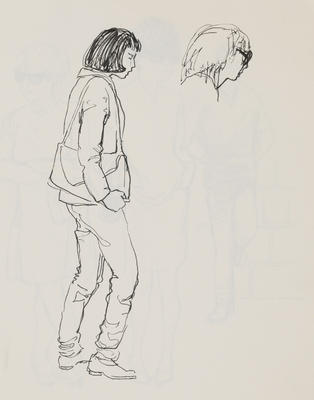 Joan Grehan; Untitled (Female figures, study); 2014/1/16