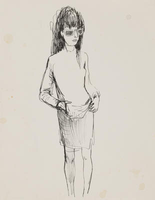 Joan Grehan; Untitled (Female figure, study); 2014/1/18