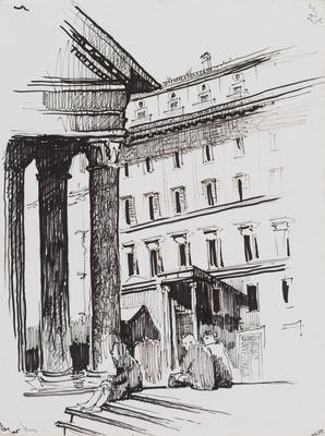Untitled, Building and figures study