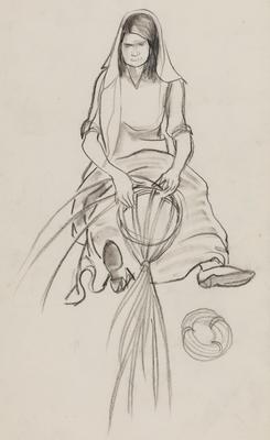 Untitled (Woman weaving)