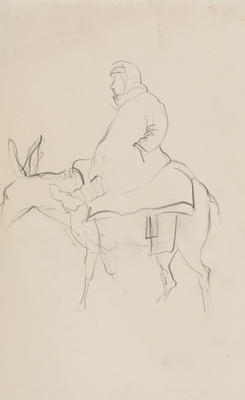 Untitled (Figure on donkey)