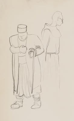 Untitled (Two male figures standing)