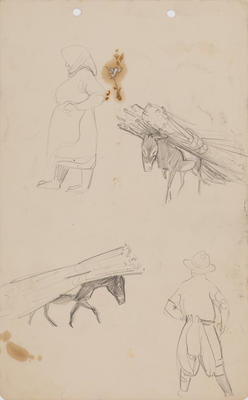 Untitled (Figures with donkeys)