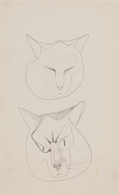 Untitled (Two cats heads)