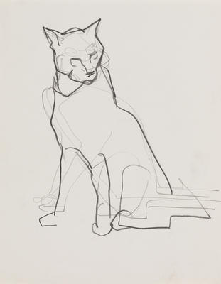 Untitled (Sketch of a cat)
