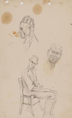 Untitled (Male head studies)
