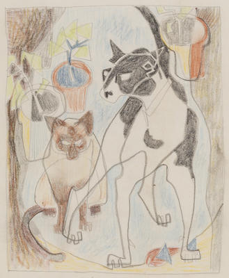 Untitled (Cat and dog)