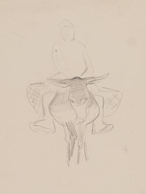 Untitled (Figure on a donkey)