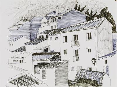 Untitled (Village scene)