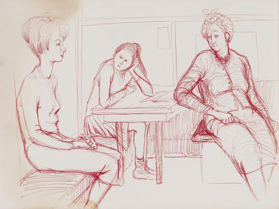 Untitled (seated figures)