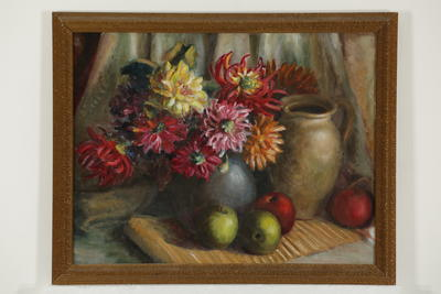 Untitled (Still Life with Jug, Fruit & Flowers)