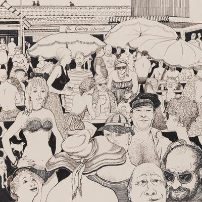 Untitled (Crowd at The Gallery Russell)