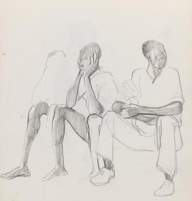 Joan Grehan; Untitled (Seated males studies); 2014/1/352