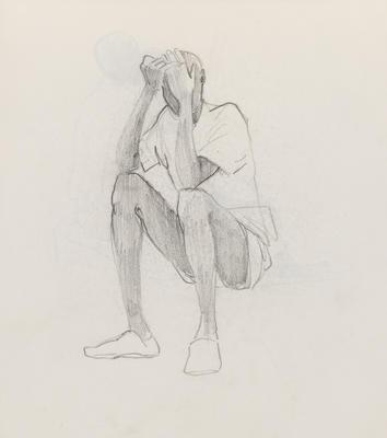 Joan Grehan; Untitled (Solo male figure study); 2014/1/353