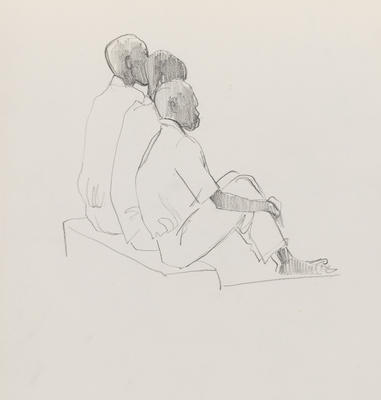 Joan Grehan; Untitled (Three male figures from behind); 2014/1/354