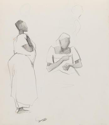 Joan Grehan; Untitled (Two female figure studies); 2014/1/356