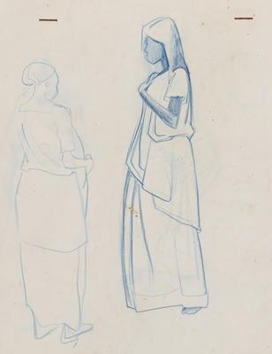 Joan Grehan; Untitled (Two standing female figure studies); 2014/1/359