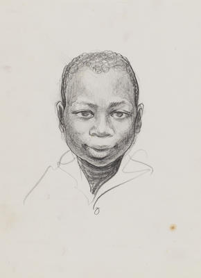 Untitled (Male child head study)
