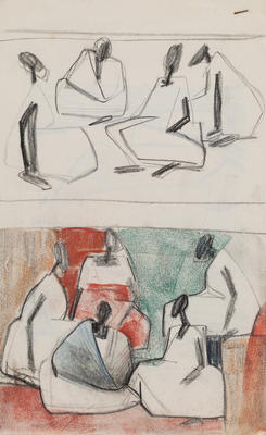 Joan Grehan; Untitled (Stylised group of figures); 2014/1/339