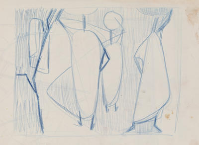 Joan Grehan; Untitled (Stylised figures); 2014/1/340