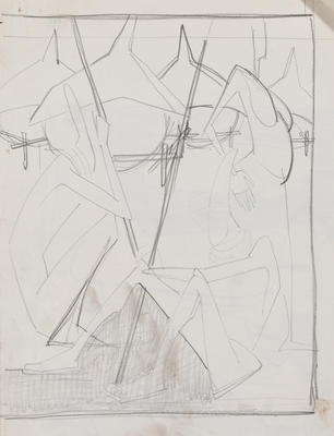 Joan Grehan; Untitled (Stylised figures); 2014/1/341