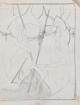 Joan Grehan; Untitled (Stylised figures); 2014/1/341