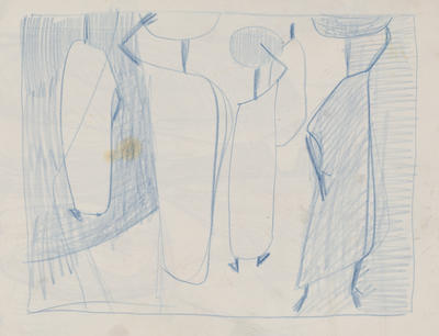 Untitled (figures in blue)