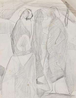 Joan Grehan; Untitled (Stylised figures); 2014/1/343