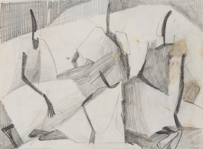 Joan Grehan; Untitled (Stylised group of figures); 2014/1/344