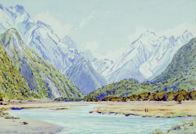 William Mowbray Barraud; Untitled (Mountains and River); Circa 1927-1966; 1972/3/5