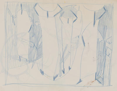 Joan Grehan; Untitled (figures in blue); 2014/1/347