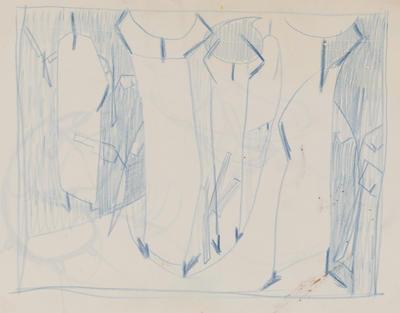 Joan Grehan; Untitled (figures in blue); 2014/1/347