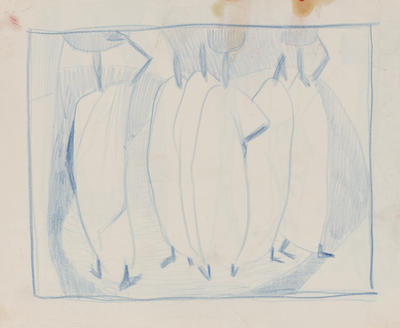 Joan Grehan; Untitled (figures in blue); 2014/1/345
