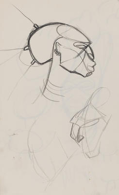 Joan Grehan; Untitled (Head and torso studies); 2014/1/348