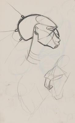 Joan Grehan; Untitled (Head and torso studies); 2014/1/348