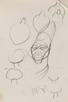 Joan Grehan; Untitled (Head and jar studies); 2014/1/349