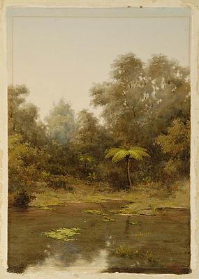 Edward Payton; A Bush Pool; 1890; L1940/6/21