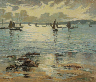 H I Babbage; Waiting for the Tide (St Ives Fishing Fleet); 1910; 1918/1/2