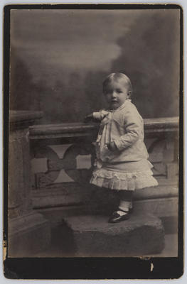 Studio portrait of a young child (Edith Collier?)