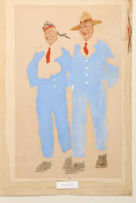 Two Soldiers Wearing Blue Hospital Uniforms