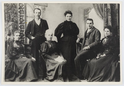 Unknown; Studio portrait of members of the Parkes family.; A2015/1/42