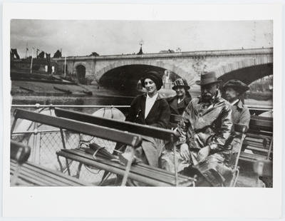 Unknown; Edith Collier on a boat on the River Thames; Circa 1920; A2015/1/64