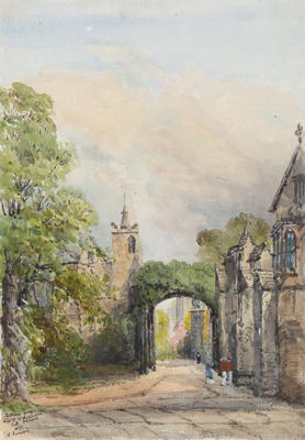 Ethel Birch; Entrance from High Street to Magdalen College, Oxford; 1877; 1922/2/5