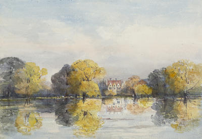 Ethel Birch; Christchurch Meadow flooded, Oxford; Circa 1870s; 1922/2/8