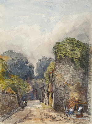 Ethel Birch; New College - City Wall; Circa 1870s; 1922/2/17