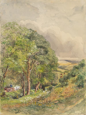 Ethel Birch; Untitled (Landscape with Horse and Cart); Pre 1920s; 1922/2/26